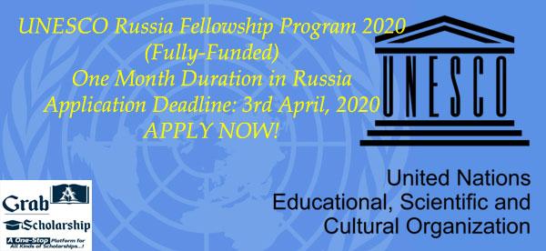 UNESCO Russia Fellowship Program 2020