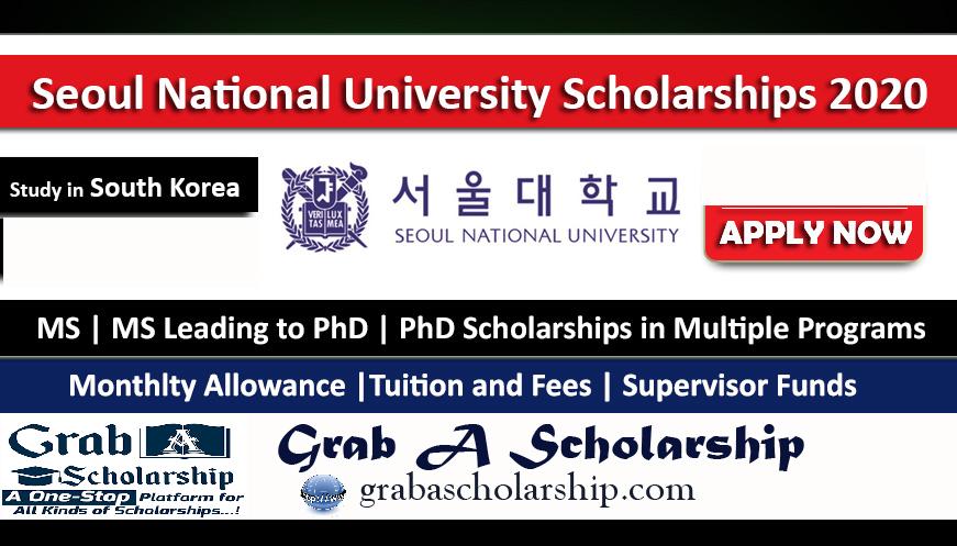 Seoul National University Scholarship 2020