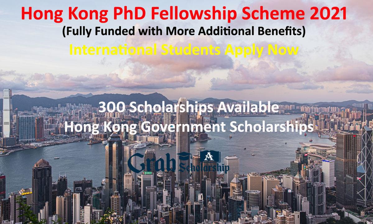 Hong Kong PhD Fellowship Scheme 2021