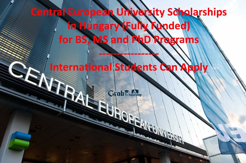 Central European University Scholarships in Hungary 2021