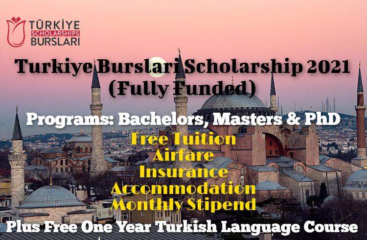 Turkiye Burslari Scholarship 2021