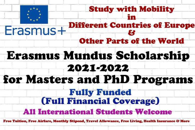 Erasmus Mundus Scholarship 2021-2022