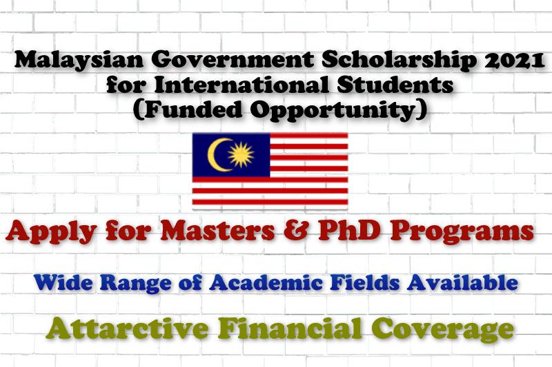 Malaysian Government Scholarship 2021