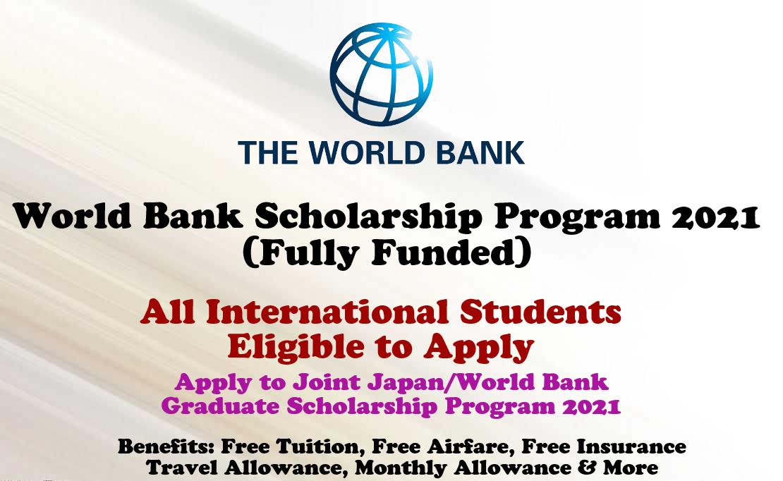 World Bank Scholarship Program 2021