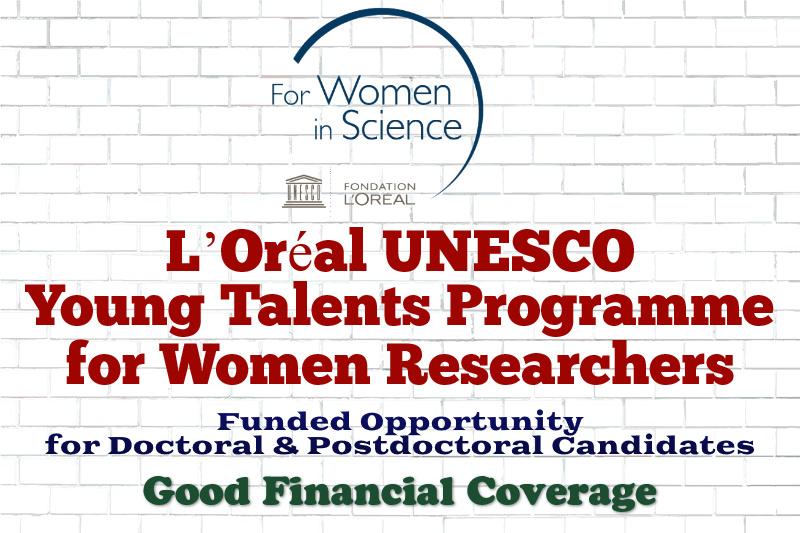 L'Oréal UNESCO Young Talents Programme for Women Researchers