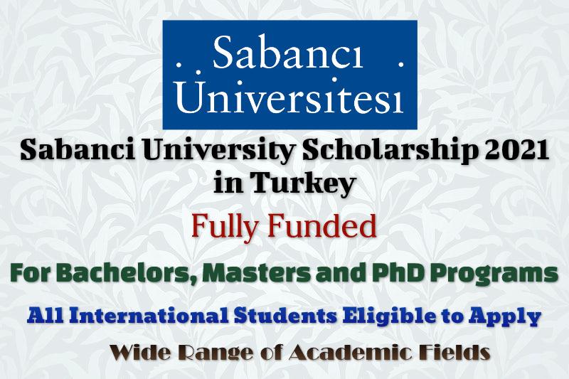 Sabanci University Scholarship 2021