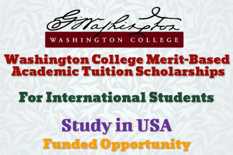 Washington College Merit-based Academic Tuition Scholarships