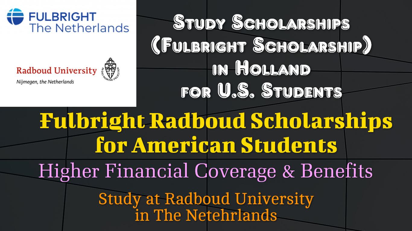 Fulbright Radboud Scholarships