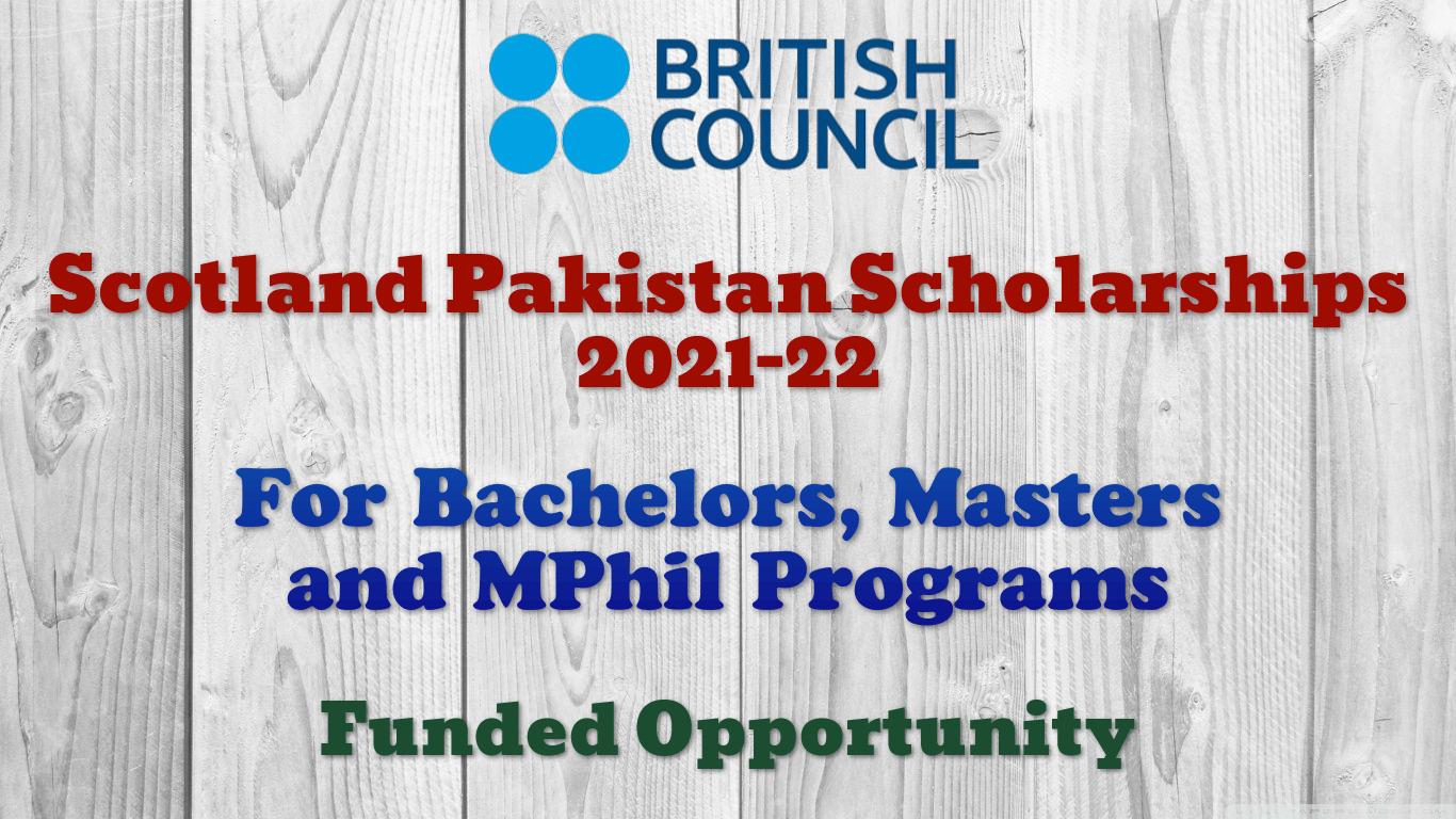 Scotland Pakistan Scholarships