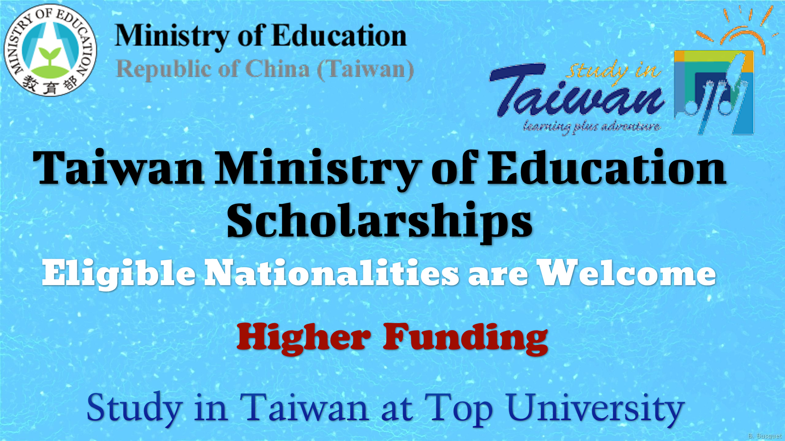 Taiwan Ministry of Education Scholarships
