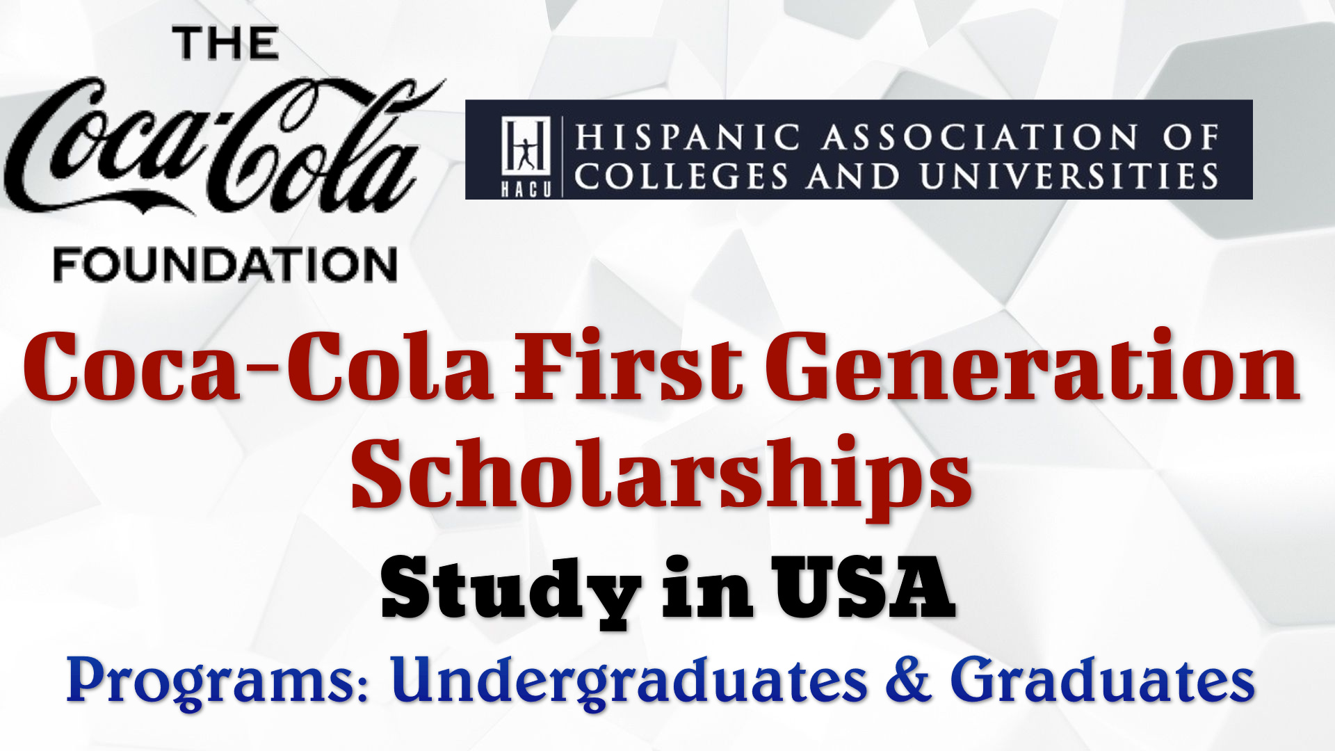 Coca-Cola First Generation Scholarships