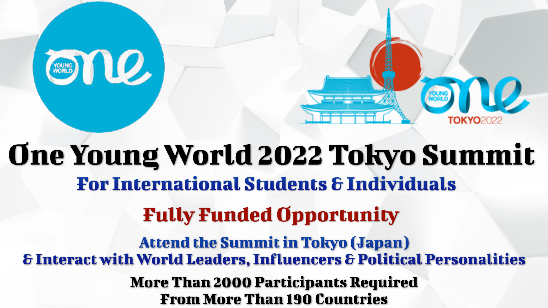 One Young World 2022 Tokyo Summit