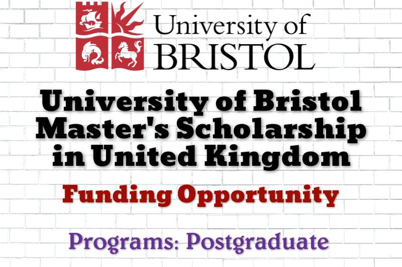 University of Bristol Master's Scholarship